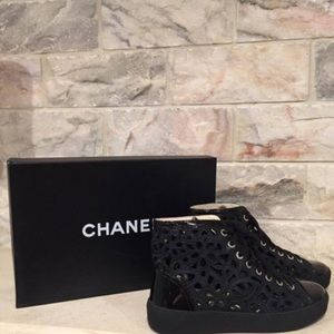 Chanel shoes laser cut sneakers